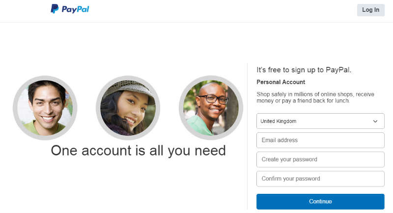PayPal SIgnup Form