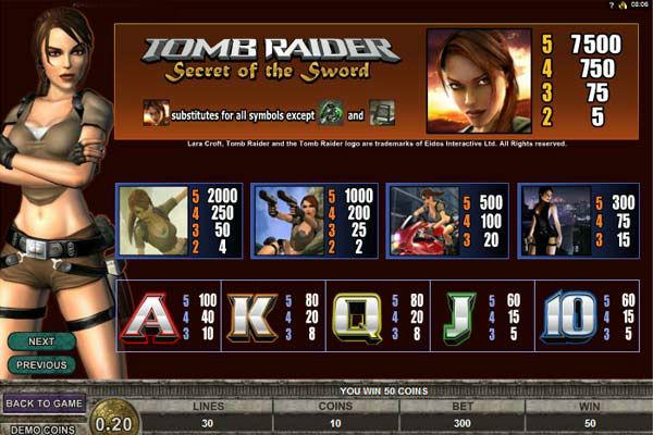 Tomb Raide slot machine