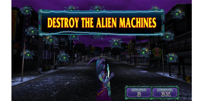 electric diva slot game destroy the alien