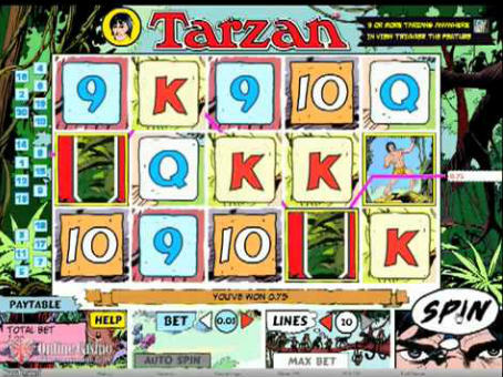 Slot Machine Game Tarzan