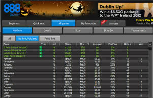 888 Poker Player List
