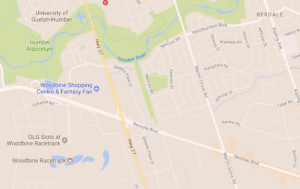 The Woodbine Racetrack next to Rexdale