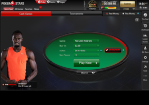 A view of the Pokerstars Zoom Edition with Usain Bolt.
