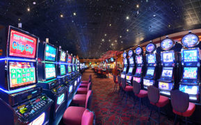 A view of the slots section at River Rock casino.