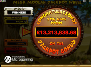 The winning screenshot that led to Microgaming's Guiness World Record.