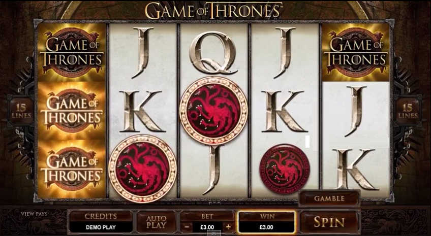 Game of Thornes slot machine screenshot