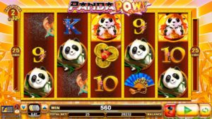 A view of Panda Pow - one of Lightning Box's most popular slot games.