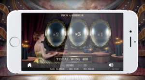 The Mirror Bonus Round in NetEnt's new Phantom of the Opera slot game.
